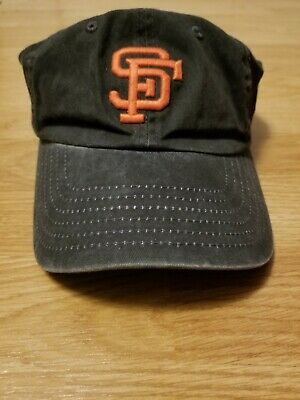 08287e2112b San Francisco Giants American Needle Black Relaxed Hat Cap Adjustable Used
