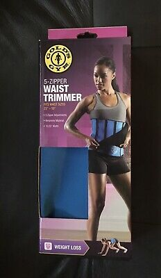 8e0f6b4d5f GOLDS GYM 5-ZIPPER Waist Trimmer Plus Sz 40