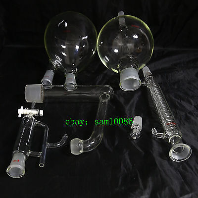 Essential oil steam distillation kit,Graham Condenser,All Glassware,lab,chem
