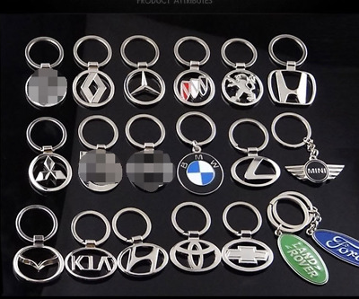 3D Metal Double Side Car Logo Hollow out Keyring Key Chains Holder for NEW
