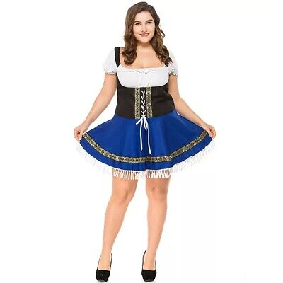 Ladies Oktoberfest German Bavarian Beer Wench Costume Women Maid Uniform