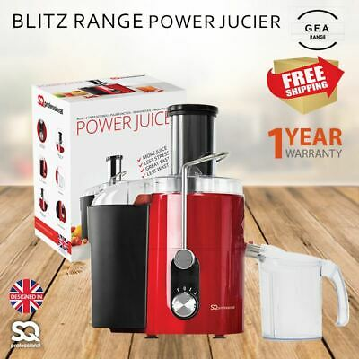 Centrifugal Power Juicer Extractor Juice Making Machine 10 Speed & Pulse Red