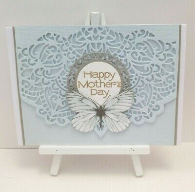 Handmade Mother's Day Card: Eastern Lace (Powder Blue)