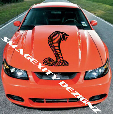 MATTE BLACK COBRA 5.0 SVT Snake SHELBY Decal Graphic Vinyl MUSTANG Hood GT