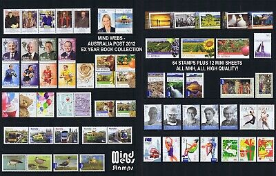 Australian Post Year Collection 2012 (76 stamps) EX YEAR BOOK **TAKE ME HOME!**