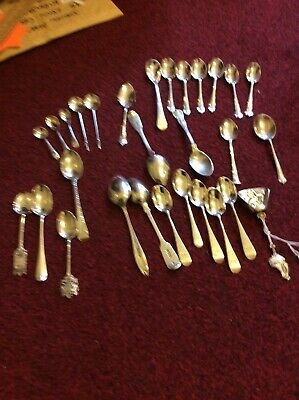 440 X  Grammes Of Scrap/useable Sterling Silver Hallmarked Spoons X 29-7 X Other
