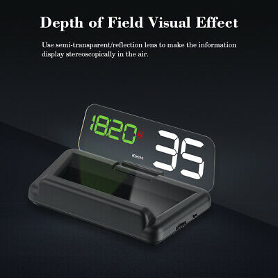 Universal 5'' Car Hud Head Up Display T900 GPS Speedometer Windshield Projector