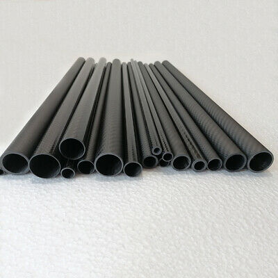3K Carbon Fiber Tube 5mm 6mm 7mm 8 9mm 10mm x 1000mm Bearing Rod Kite Wrapped-H
