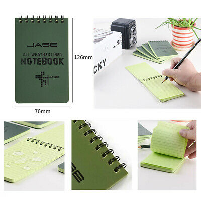 """3"""" x 5""""Notepad Waterproof Spiral Paper 50 Page Pocket Size Notebook Outdoor 1pcs"""
