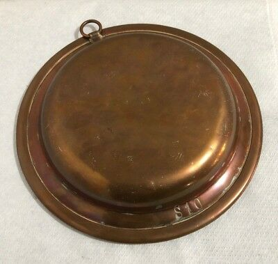 Vintage Antique Old Tinned Copper Dish Plate