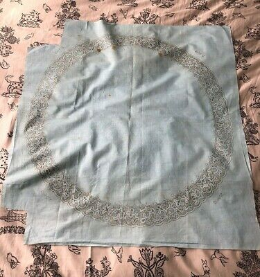 Vintage Rare French Lace Makers Pattern on Cotton 1900s Reusable