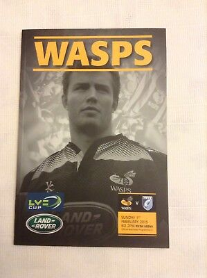 Rugby Union Programmes wasps v cardiff blues 2015