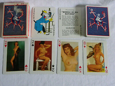 Vintage 1950s - Models Of All Nations - Spielkarten 52 Blatt - Pin-up Girls