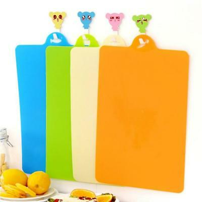 Plastic Chopping Board Non Slip Kitchen Mat Colour Coded Slicing Cutting Block T