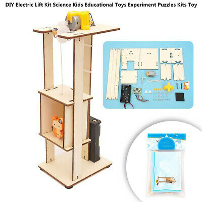 DIY ELECTRIC LIFT Kids Educational Toy Elevator Model
