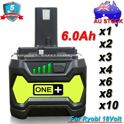 P108 For Ryobi One+ Plus RB18L50 18V 6.0 Ah Lithium Battery P104 RB18L25 RB18L15