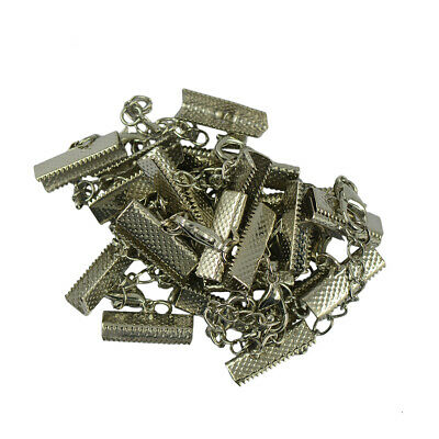 12 Crimp Clasp and Clip Ends with Necklace Lobster Clasp Extender Chain