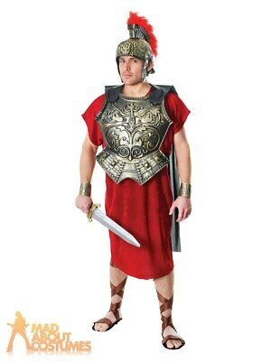 Adult Roman Emperor Armour Gladiator Chest Plate with Cape Fancy Dress Accessory