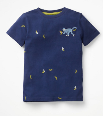 Mini Boden boys tshirt embroidered creature 3 4 5 6 7 8 9 10 y RRP $26 monkey
