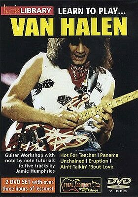 Lick Library LEARN TO PLAY EDDIE VAN HALEN Eruption Guitar Lessons Video 2 DVD