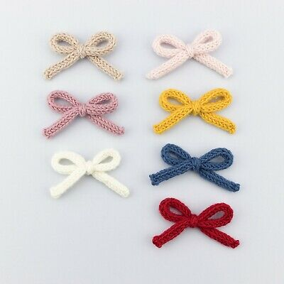 Handmade Knitted Baby Headband Girls Hair Clips Newborn Bow Toddler Bow