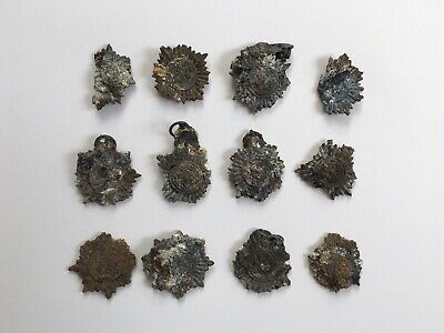 Rare WW2 German Burnt 12 PCS Ostvolk Medal Lot from Capitulation Point in Silver
