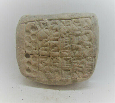 Scarce Circa 3000-2000Bce Ancient Near Eastern Tablet With Early Form Of Writing