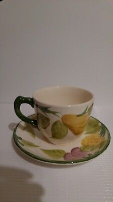 """Vintage Masons Pottery """"Fruit"""" Cup And Saucer"""