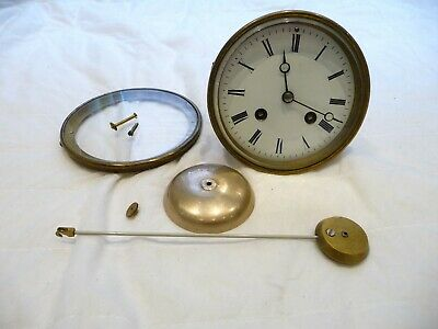 "Antique French Complete Striking Clock Movement ""Jappy Freres"" Ticking Project"
