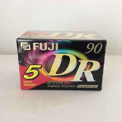 FUJI DR 90 Blank Cassette Tapes For Music Recording, Pack of 5