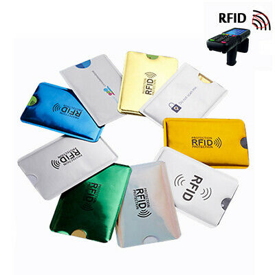 5X Anti RFID NFC Wallet Blocking Reader Bank Card Holder ID Case Protection New