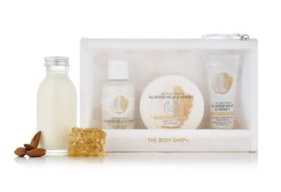 NEW Body Shop Almond Milk & Honey Hand Cream Shower Body Butter Trio Gift Set!