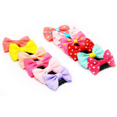 10pcs/pack Lovely BB Clips Newborn Baby Girls Scarce Hair Bowknot Hairpin Kid