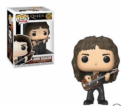 "Queen John Deacon 3.75"" Pop Rocks Vinyl Figure Funko Brand New 95"
