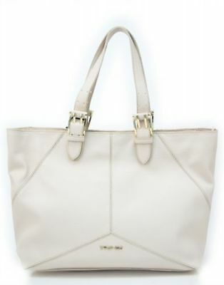 Shopping Bag Twin-Set Eco-Leather Mother-Of-Pearl Ivory