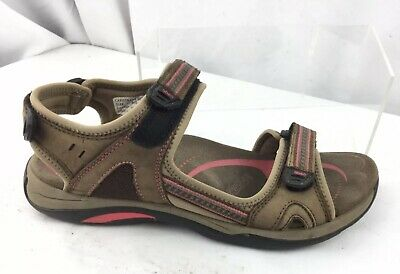 dff3cd31190 Abeo Capistrano Brown Leather Bio System Women s Sport Sandals Size 11