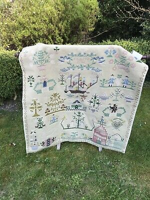 Antique Early 18Th Century Dutch Darning Sampler - Anno 1782