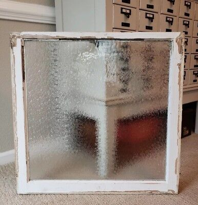 Vintage Antique Window Single Pane textured GLASS Architectural Salvage
