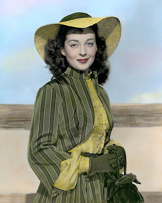 "GAIL RUSSELL EL PASO 1949 HOLLYWOOD ACTRESS 8x10"" HAND COLOR TINTED PHOTOGRAPH"