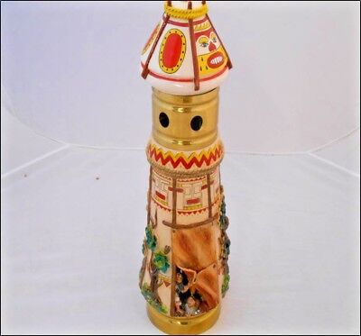 Cowboys and Native Americans draft beer tower, HAND PAINTED/CRAFTED