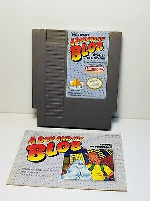 A Boy And His Blob -- NES Nintendo Authentic Game + INSTRUCTIONS MANUAL BOOKLET
