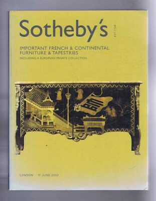 Art: Important French & Continental Furniture & Tapestries, Sotheby's 11 Jn 2003