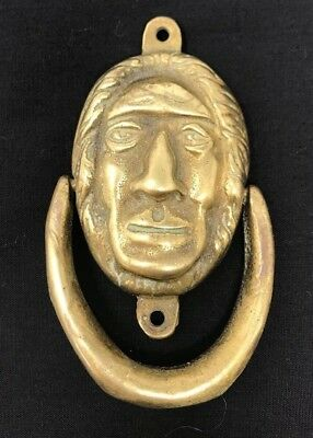 Antique Brass Old Man Door Knocker