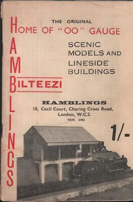 Hamblings Bilteezi 1950s Model Railway Equipment Catalogue scenic buildings