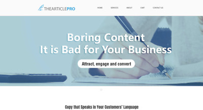 Thearticlepro.com - Brandable Premium Business or Blog Domain Name