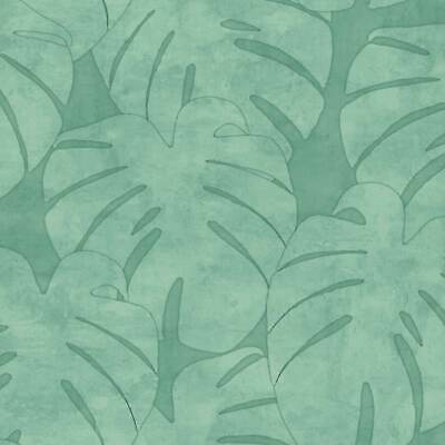 Non Woven Wallpaper Jungle Watercolour Green Jungle Fever