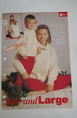 Knitting Pattern Ladies Child's Aran Style Sweaters 24-40""