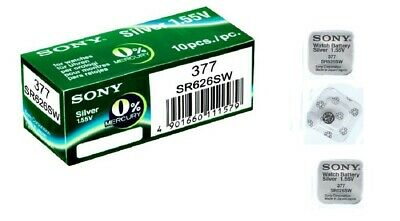 Sony 377 Silver Oxide SR626SW Watch Battery -Individually packed - Avail 1-10pcs
