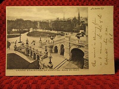 Early 1900'S. Grand Staircase Of Capitol. Albany, Ny Postcard K7