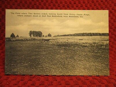 1930'S. Manassas, Virginia. Bull Run Battlefield. Postcard H4